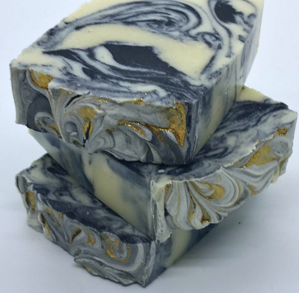 Men's BEER SOAP with Barber Shoppe Fragrance Oil and Activated Charcoal