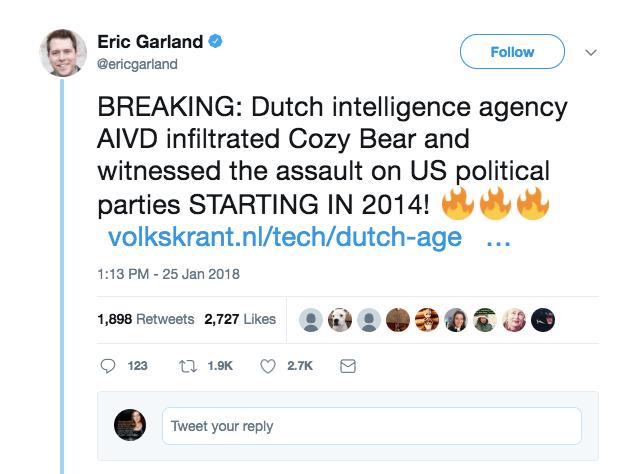 Garland Tweet 1