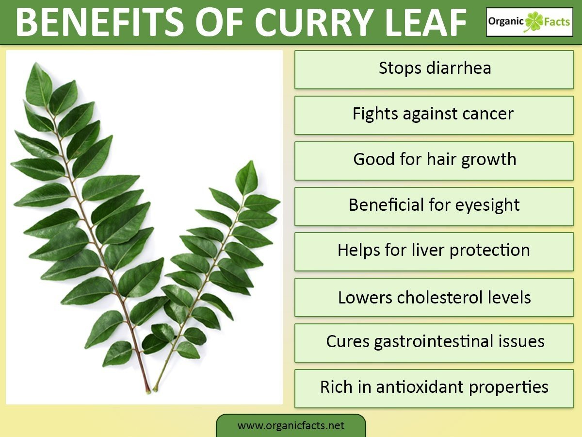 Curry leaves are not only good for flavor but are super healthy too