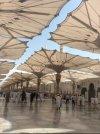 Dome And Umbrella Giant Mosque Nabawi Kubah Dan Payung Raksasa