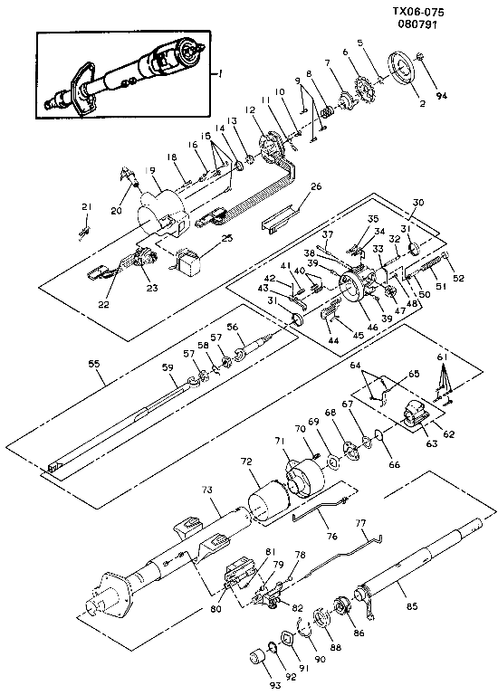 1985 Chevy Truck Steering Column Diagram : chevy, truck, steering, column, diagram, Parts, Steering, Columns, Column, Services