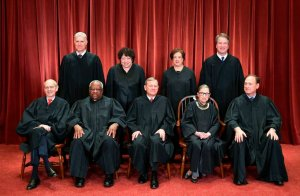 Photo of Justices of the United States Supreme Court in Washington, DC on November 30, 2018