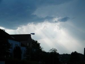 Dramatische Cumulusnimbus Wolken über Pforzheim 2