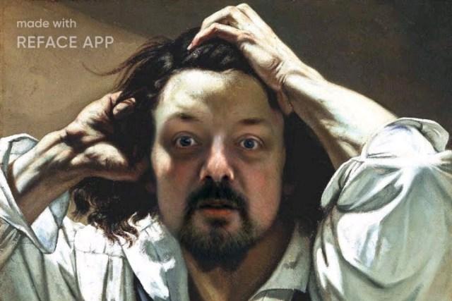 Gustave Courbet Der Verzweifelte Mann verschmolzen mit mir