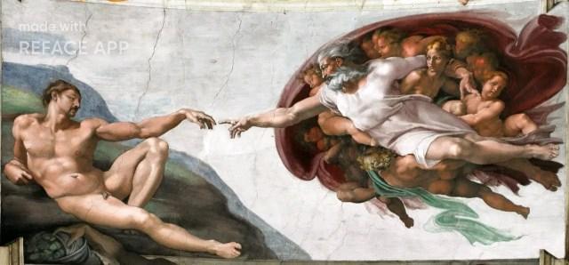 """Michelangelo """"Die Erschaffung des Adam"""""""