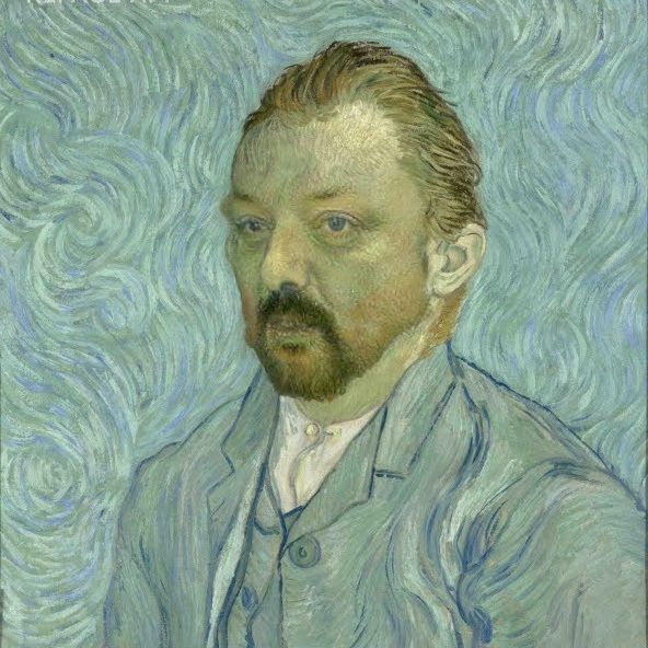 "Van Goghs ""Selbst Bildnis"" mit mir"