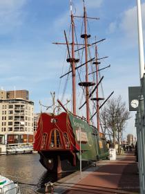 Ein altes, restauriertes Segelschiff