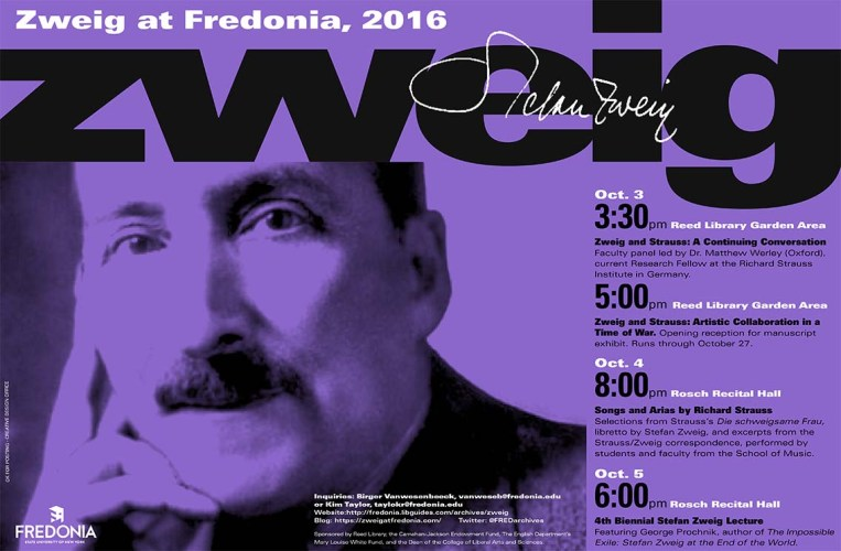 """Zweig at Fredonia 2016"" 3-5 October 2016"
