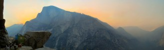 Half Dome's ethereal glow of awesomeness (or forest fire)