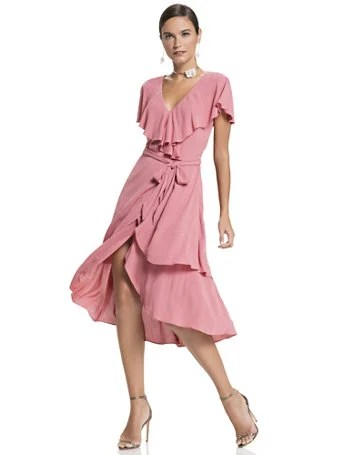 Flutter-Sleeve Wrap Dress