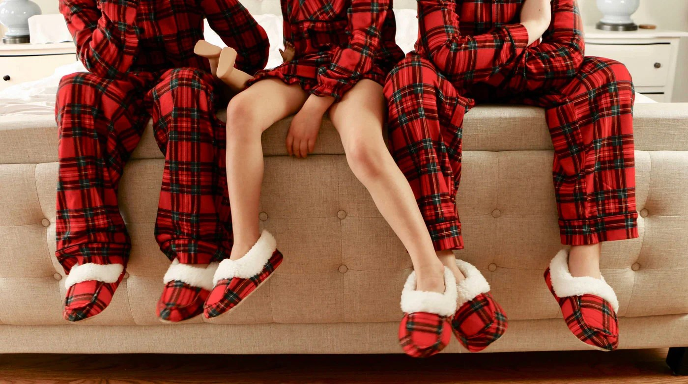 Matching Plaid Pajamas