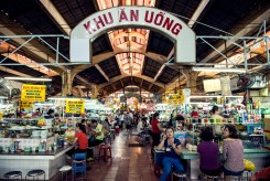 Wide indoors shot of Ben Thanh Market, Ho Chi Minh City