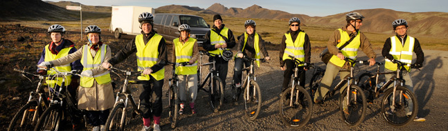 Private bicycle tours in Iceland