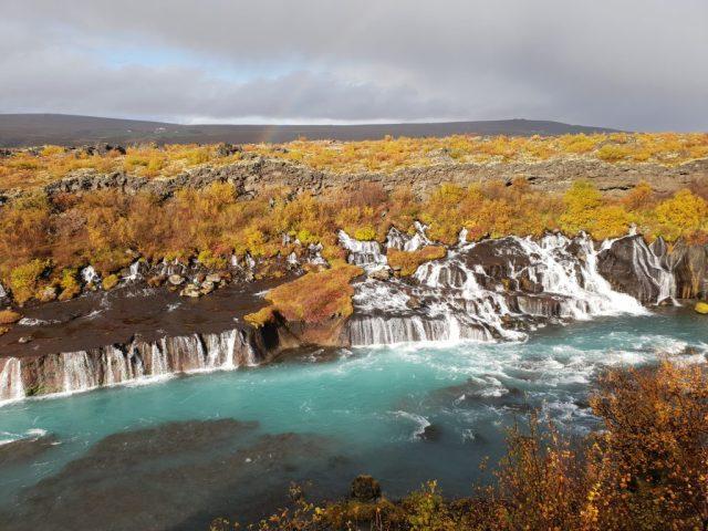 Hraunfossar waterfalls - Borgarfjordur route west Iceland