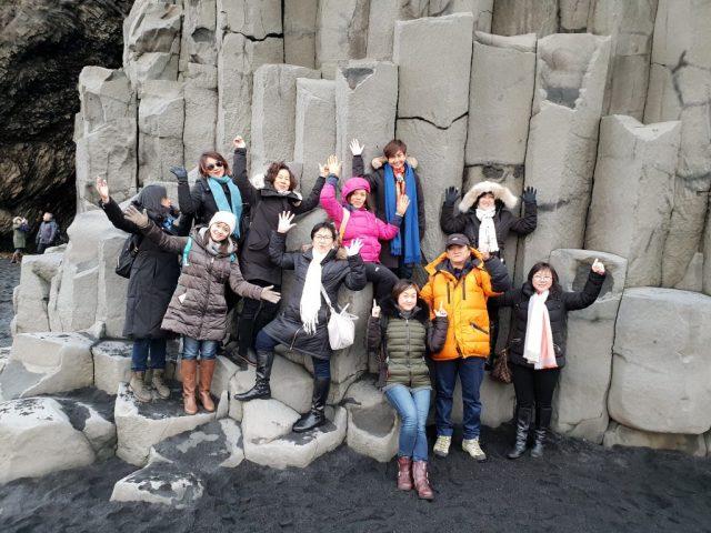 Reynisfjara black beach - south Iceland.