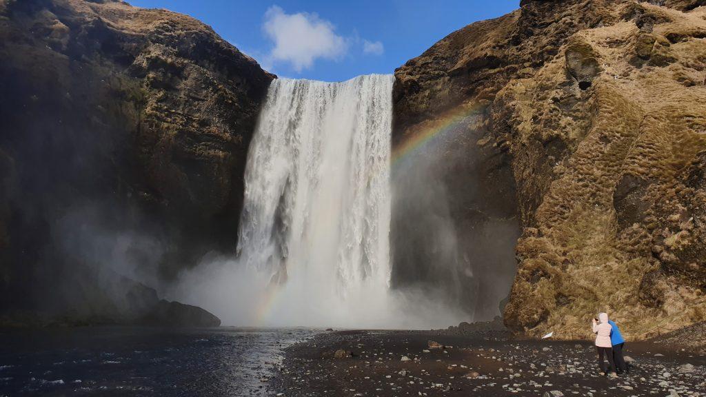 Skogafoss waterfall south Iceland.