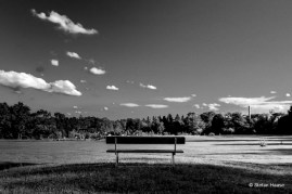 Park Bench Blackand White