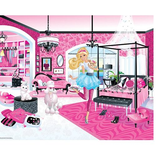 Tapet pentru Copii Barbie My Fab Designer