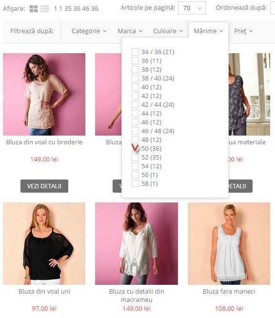 selectia marimii-Bluze femei masuri mari modele elegante-Marimi 48-50-52