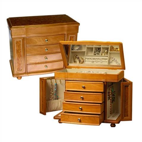 cutie bijuterii Mele Josephine Burlwood Deluxe