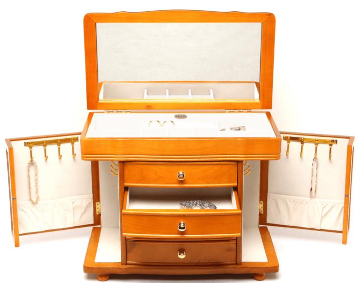 cutii bijuterii Mele Josephine Burlwood Deluxe