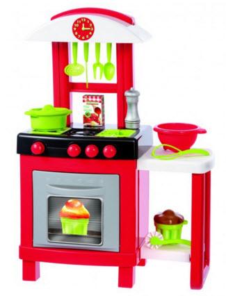 bucatarie pentru copii ECOIFFIER-Bucatarie Pro Cook, 15 accesorii