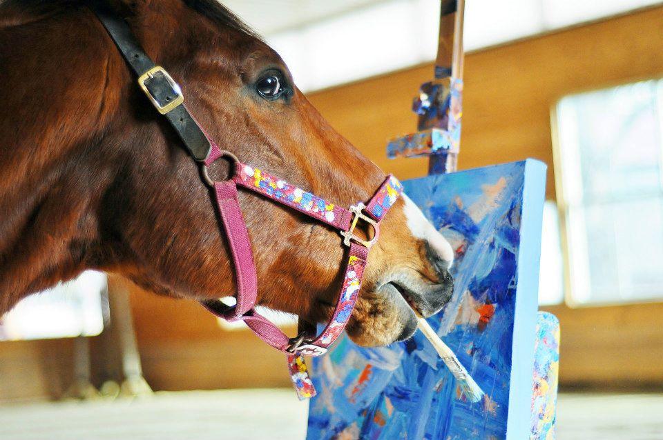 Cand caii picteaza cu adevarat te scufunzi intr-o visare adanca