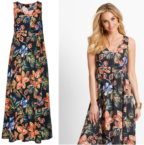 Rochie cu imprimeu floral negru imprimat
