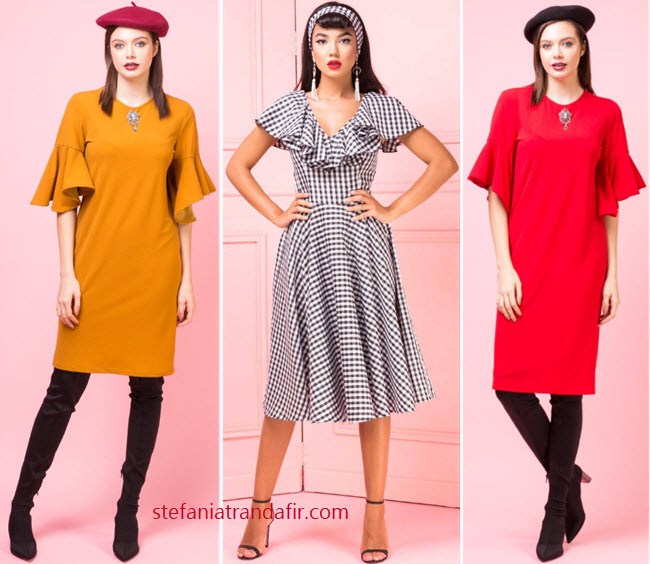 rochii fashion midi primavara toamna