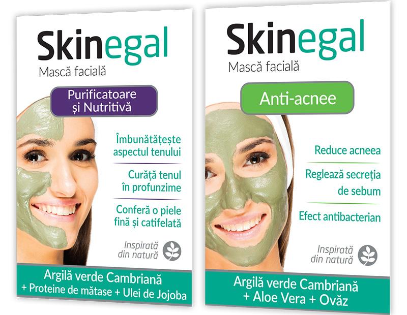 masca de fata cu argila verde skinegal