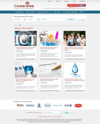 Blog Layout + Wordpress Implementation