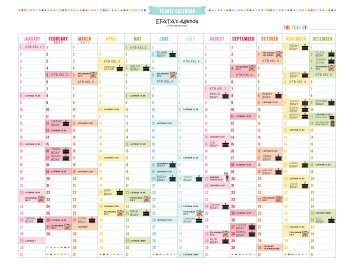 yearly schedule layout