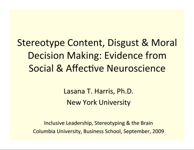 Neuroeconomics Inclusive Leadership