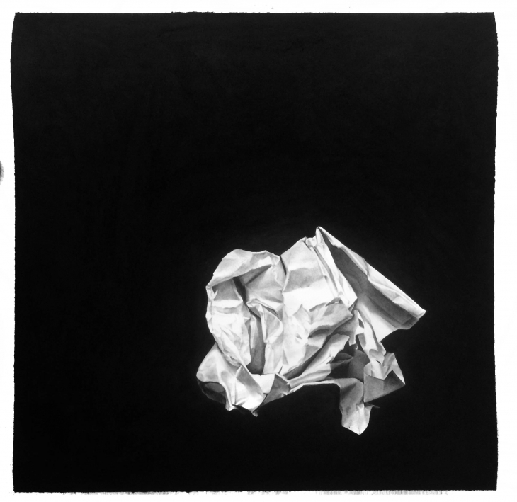 """paper"" Charcoal Drawing 70 x 70 cm"