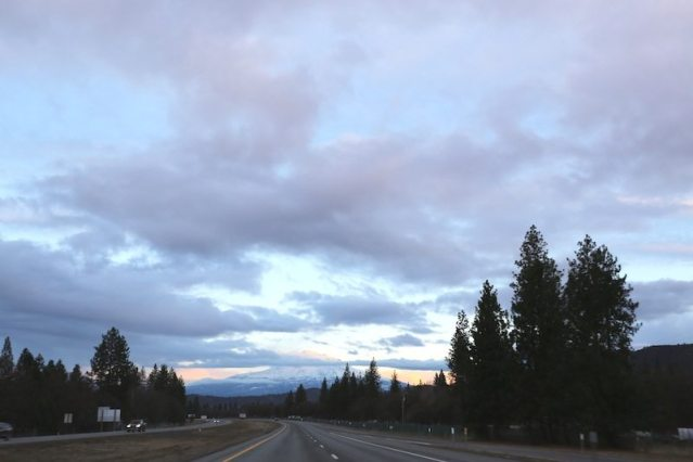 A view of Mount Shasta on Lady Holiday's Ultimate Road Trip #1