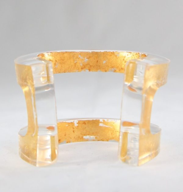 CLEO'S CHARM ACRYLIC CUFF IN 23K ROSE GOLD GALLERY 2