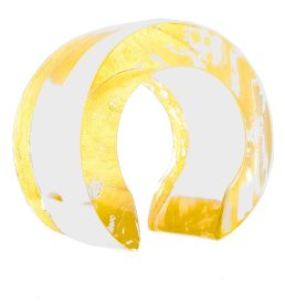 RING LEADER LUCITE CUFF IN 24K GOLD