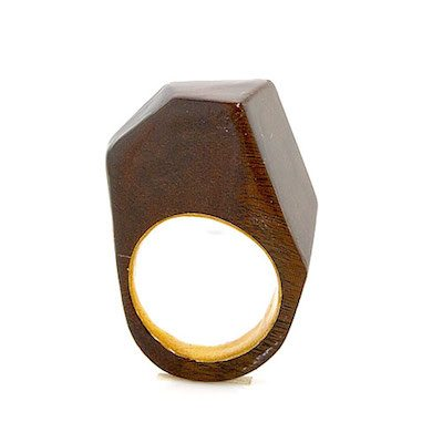 The Newcomer rosewood ring 10