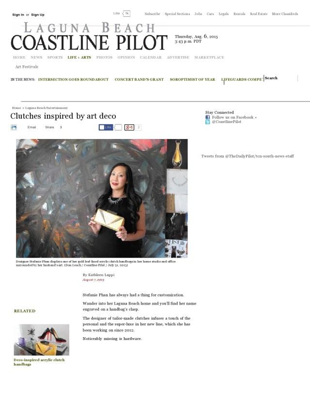 Stefanie Phan featured on Coastline Pilot