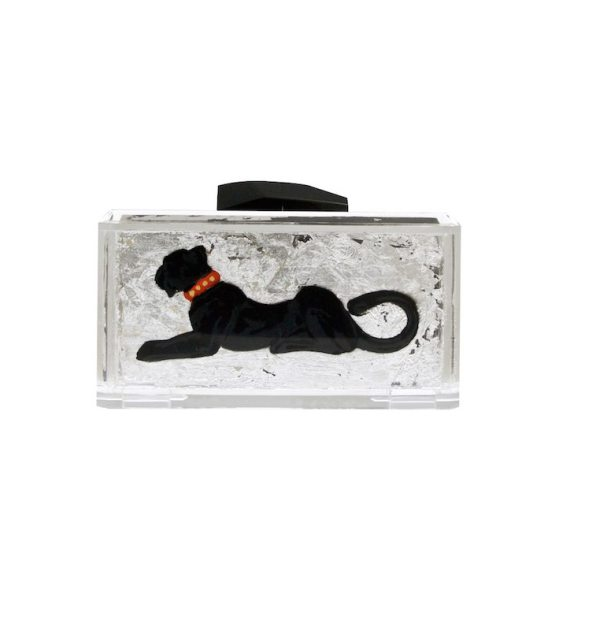 Panther Of The Light Silver Clutch