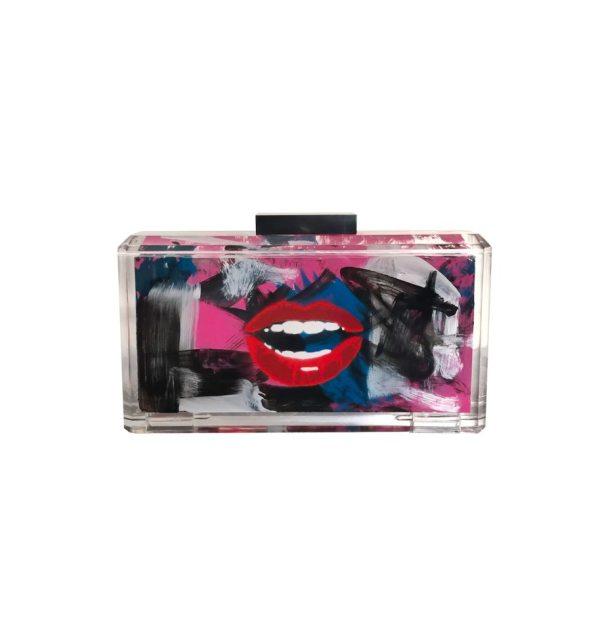 Read My Lips 2 Hand Painted Graffiti Bag
