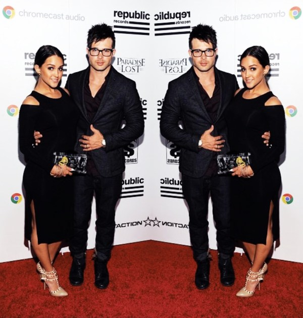 Stephanie Longo wearing Stefanie Phan Last Dance Limited Edition Grammys acrylic clutch
