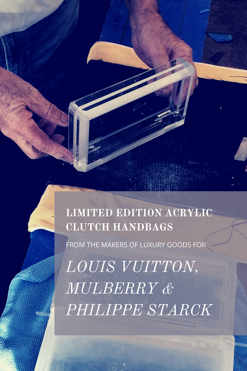 Limited Edition Acrylic Clutch Handbags From The Makers of Luxury Goods for Louis Vuitton, Mulberry and Philippe Starck