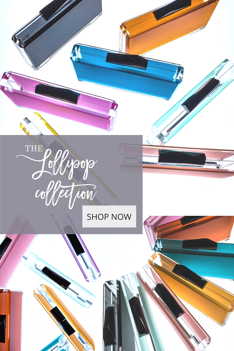 THE LOLLIPOP COLLECTION ACRYLIC CLUTCH HANDBAGS BY STEFANIE PHAN