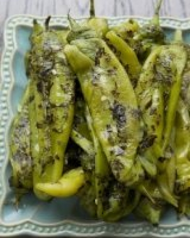 Fresh roasted Hatch Chiles