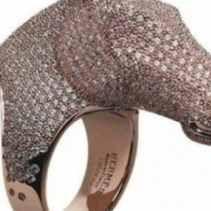Hermès limited edition Galop Collection ring, exclusively for Harrod's in London