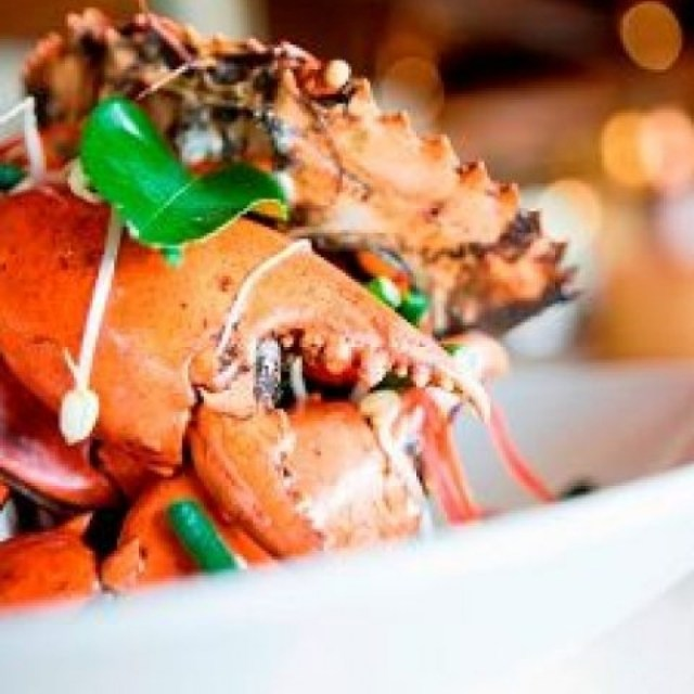 Fresh seafood is showcased on the menu nightly
