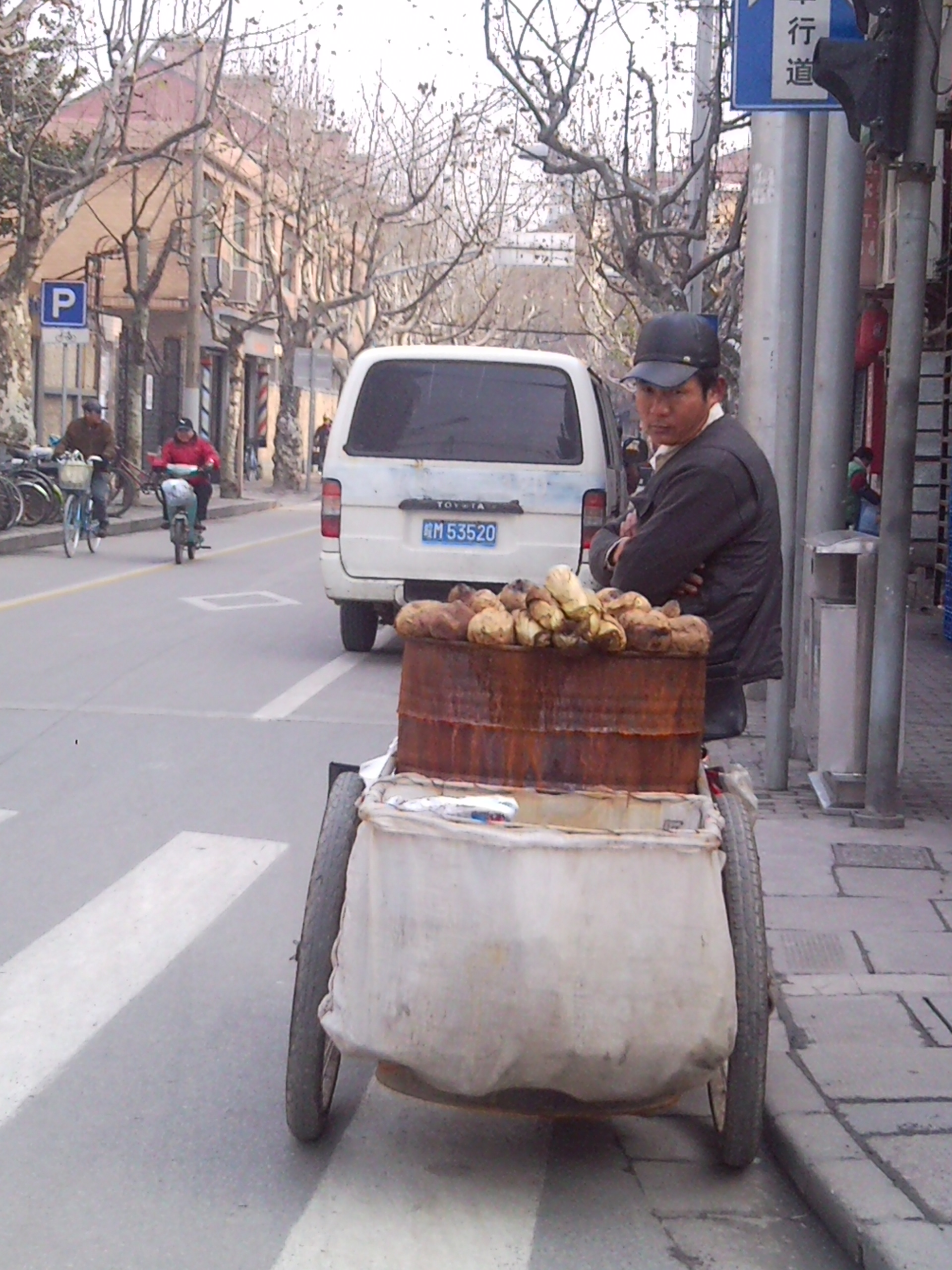 Stand à patates chinois