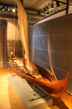 Small scale model of a viking ship