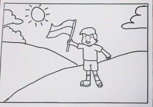 Mewarnai Bendera Indonesia Untuk Anak Download Gambar Online